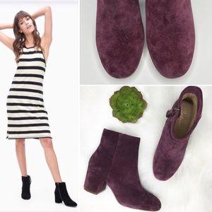 Splendid Daniella plum Ankle block heel Bootie